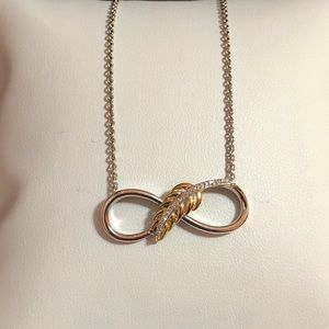 NWOT solid 10kYG & 925 diamond necklace pendant